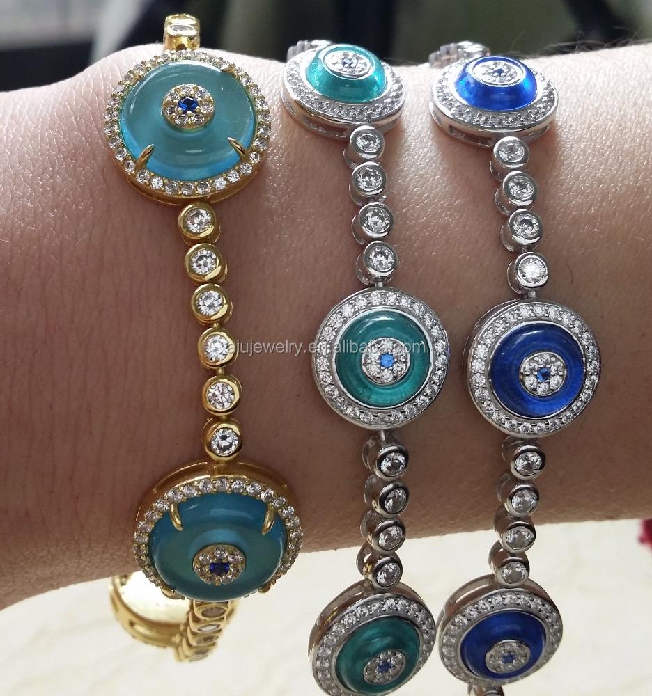 Turkish Sterling Silver Evil Eye Tennis Bracelet Evile Product On Alibaba