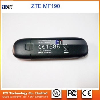 Brand New 7 2m Unlock Zte Mf190 Usb Modem 3g Dongle Usb Modem Zte Mf190  Support Android Tablet - Buy 3g Dongle Usb Modem Support Android  Tablet,Unlock