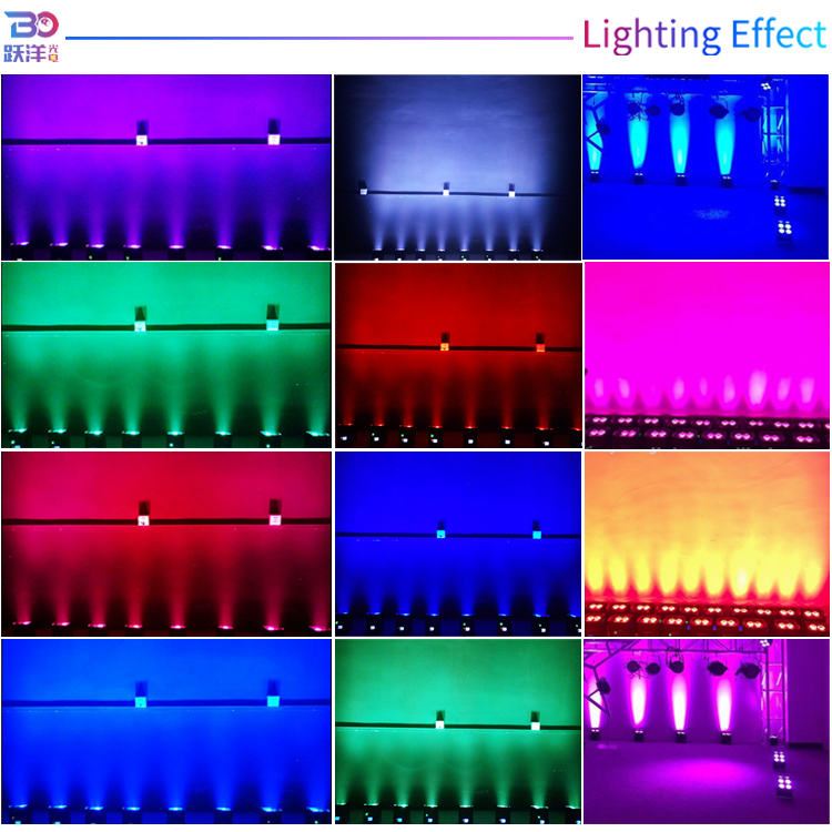 2020 New year Stage decoration uplight 6-in-1 RGBWA UV 4pcs*12w led wireless battery powered led stage lighting par light for dj