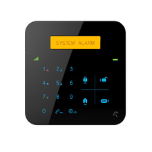 Unique yellow LCD display IOS/ANDROID APP wireless gsm sms home alarm systems with home appliance controlling