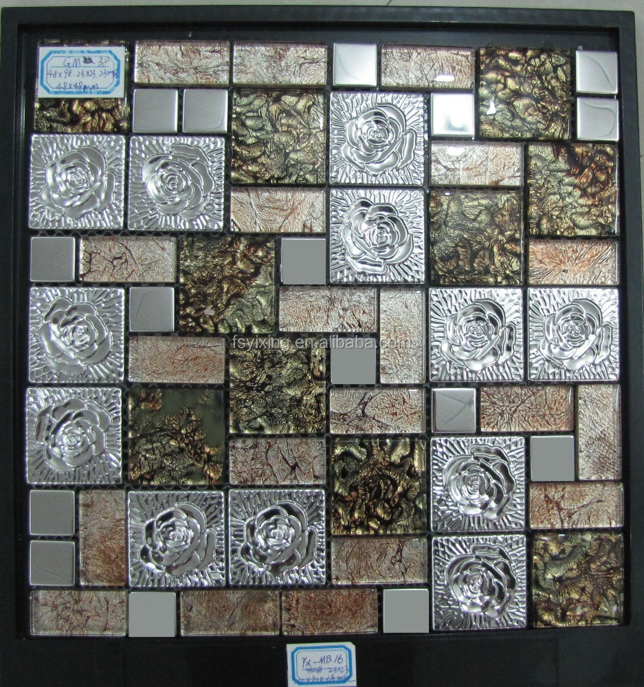 Hot sale mix colour of metal mosaic tile decorative <strong>wall</strong>