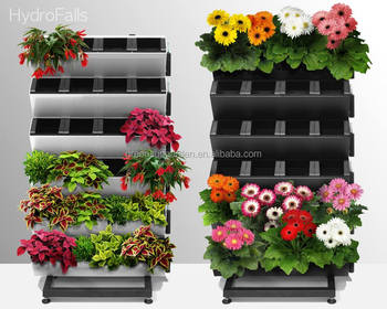 Vertical Garden Wall Planter With Water Indicator/living Wall,green  Wall,Plastic Self
