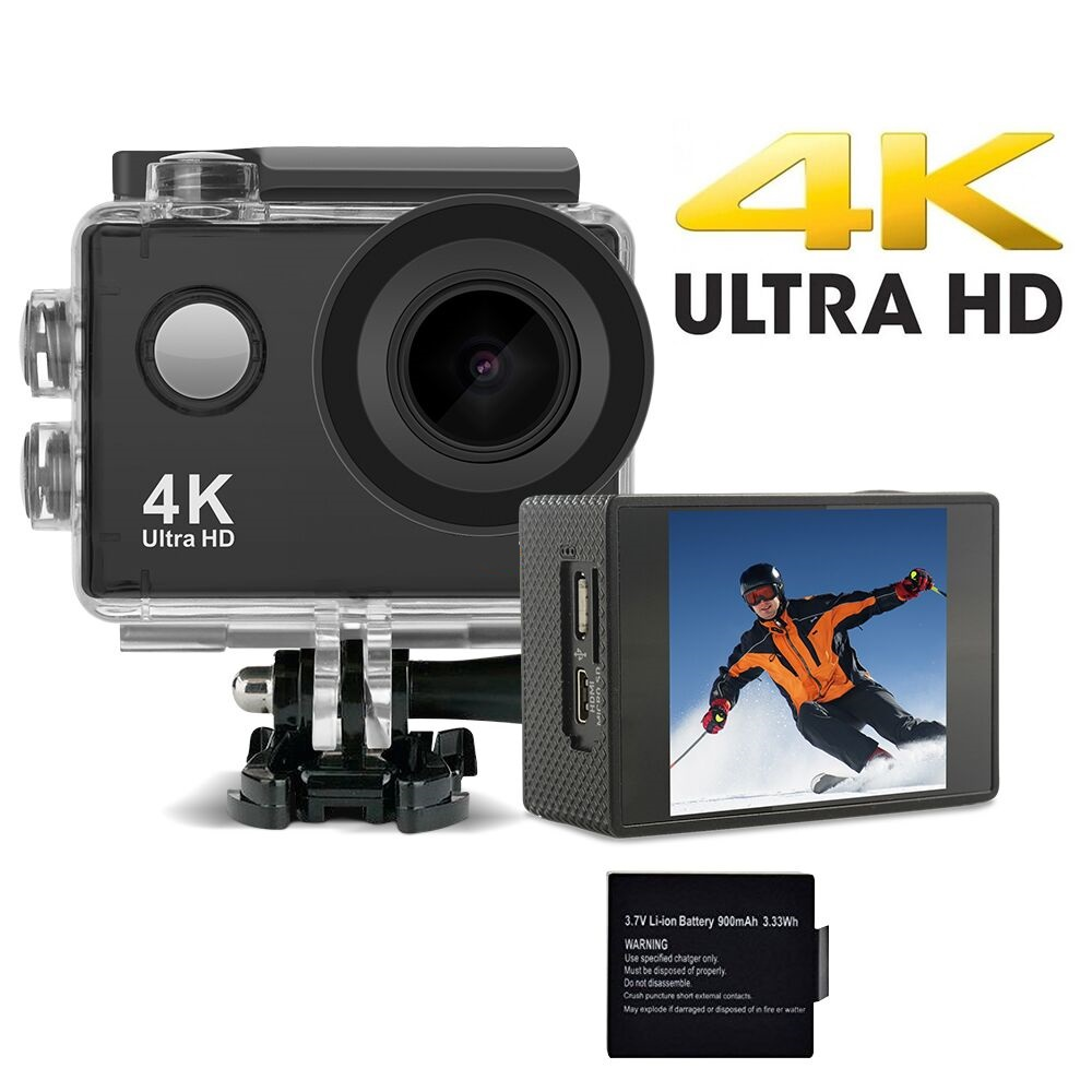 DveeTech New arrival S2 4K 30fps Sport Camera Full Time Image Stabilizer 170 Degree Lens WiFi Control 16MP Action camera