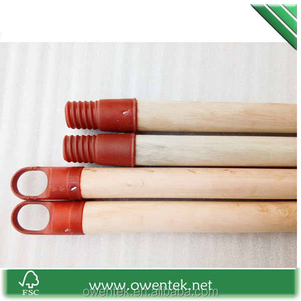 hot sale Chinese broom stick for spade flat wood stick with Italian screw for India and Egypt broom
