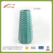 decoracin azul vidriada cermica jarrones decorativos de gran tamao jarrones piso alto