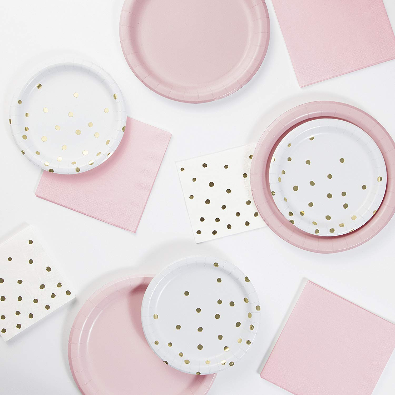 Classic Pink, White and Gold Foil Party Pack