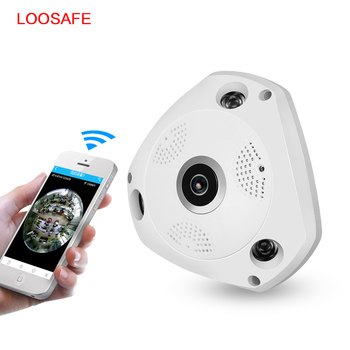 76f360bf7552e 360 Degree VR Panoramic Camera HD 960P Wireless WIFI IP Camera Home  Security Surveillance System Hidden