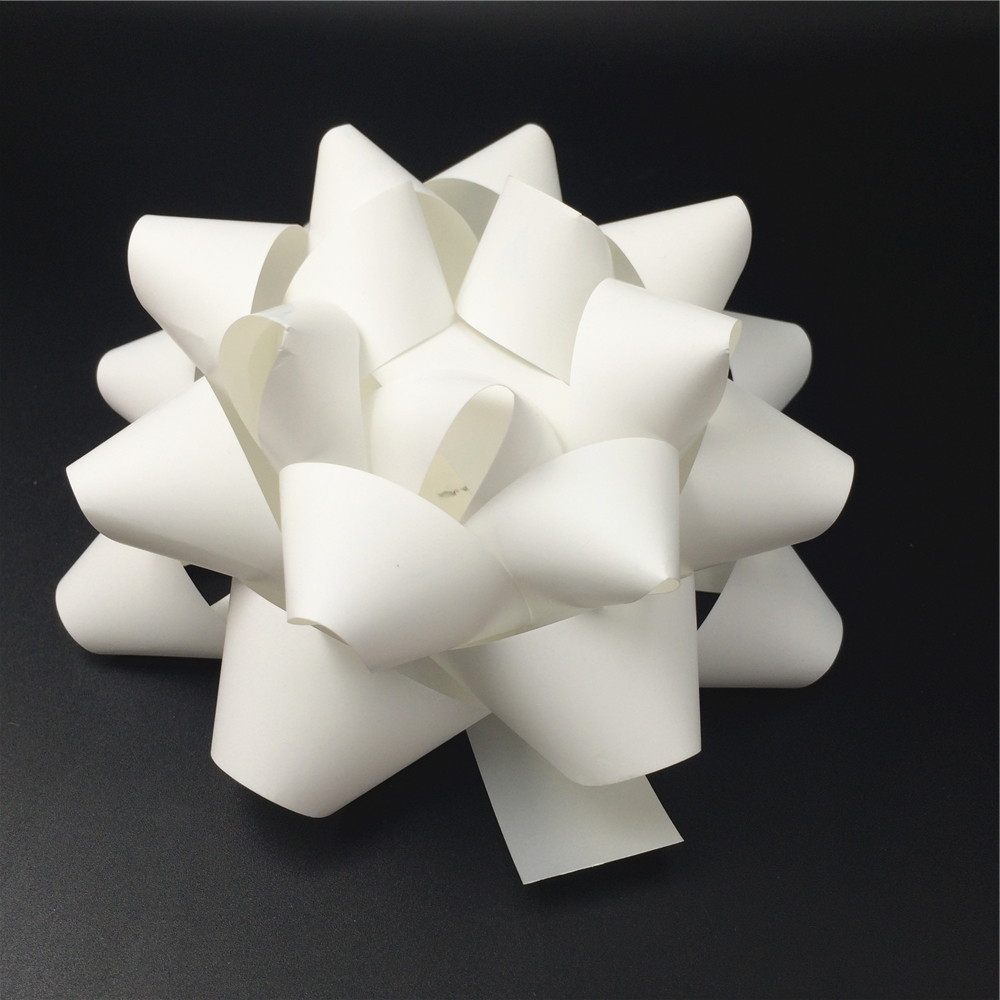 All factory white ribbon make a Christmas bows