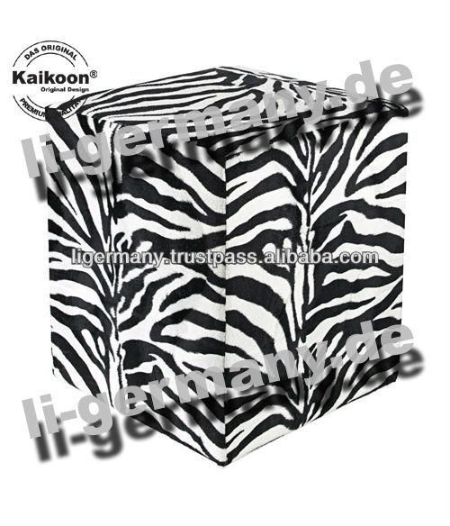 Kubus kruk nep bont gestreepte salonzetel stoelen en voetenbankjes product id 166383602 dutch for Kubusgordijnen