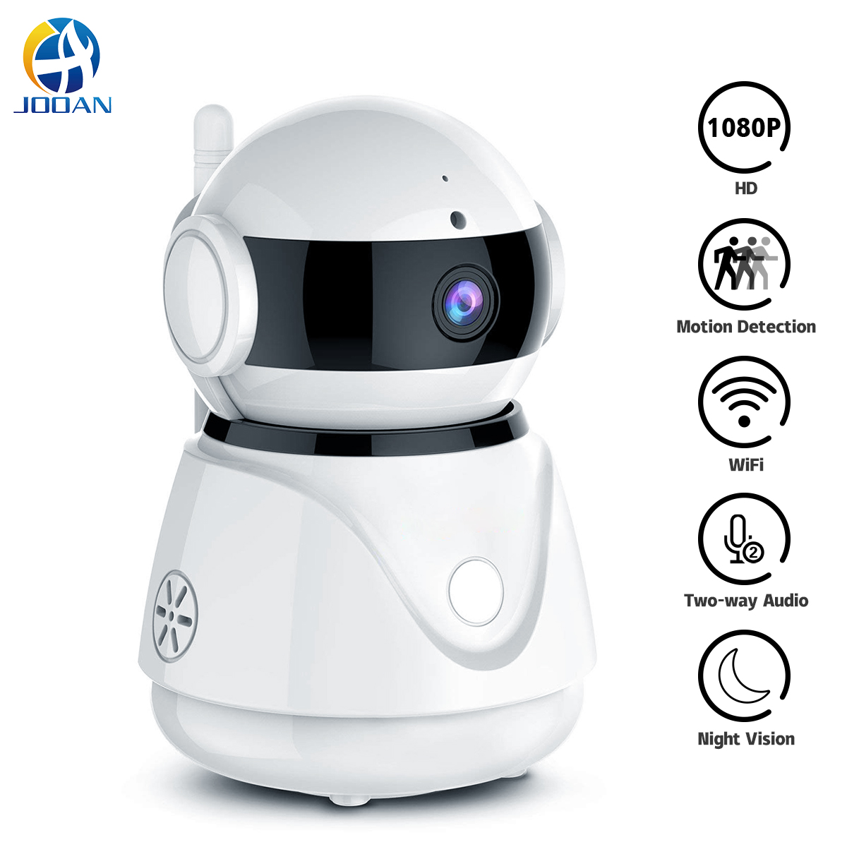 JOOAN 1080P WIFI Wireless Security Camera CCTV Home IP Camera Day/&Night Version