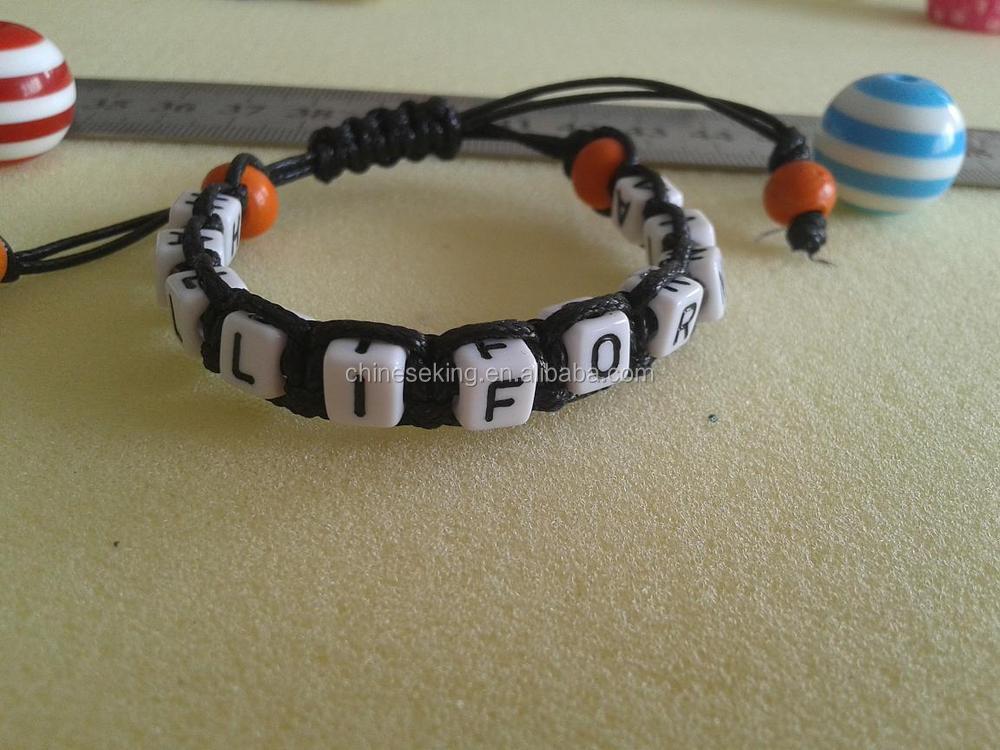 Diy Letter Beads Woven Bracelet Alphabet Initial Hand Handmade Friendship