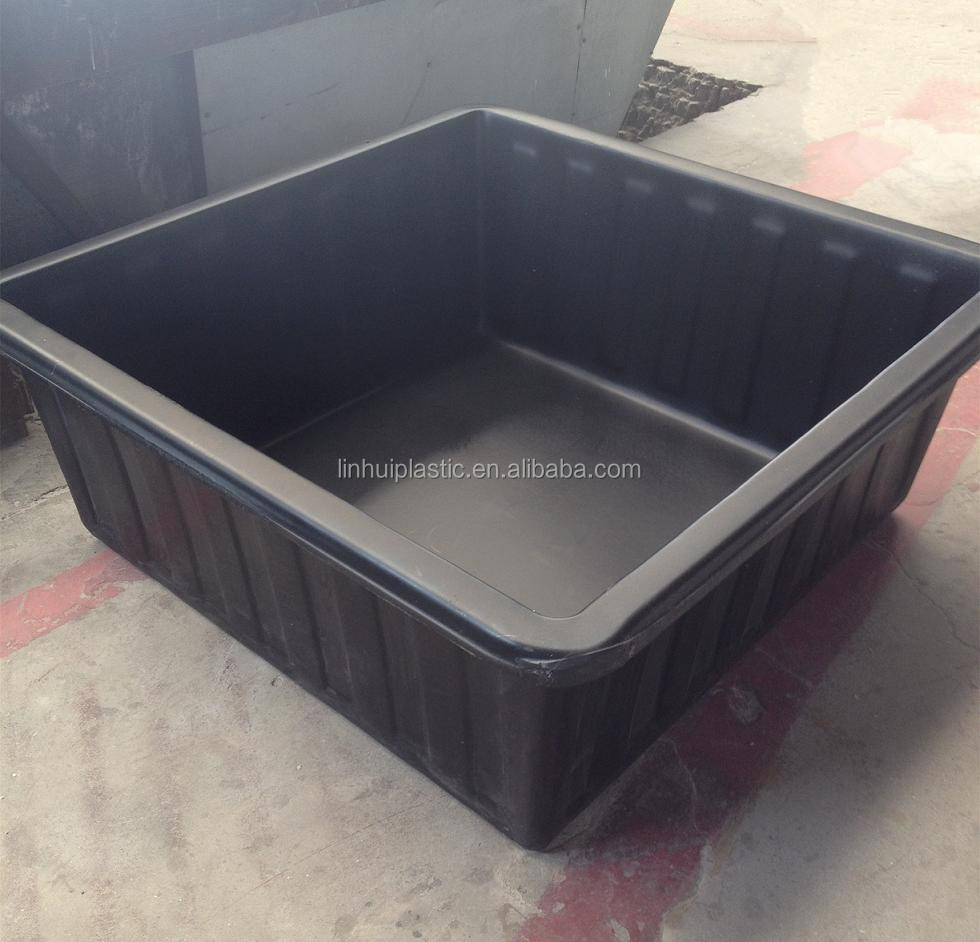 Pe open top tank aquaponics tank fish aquaculture tanks for Plastic pond