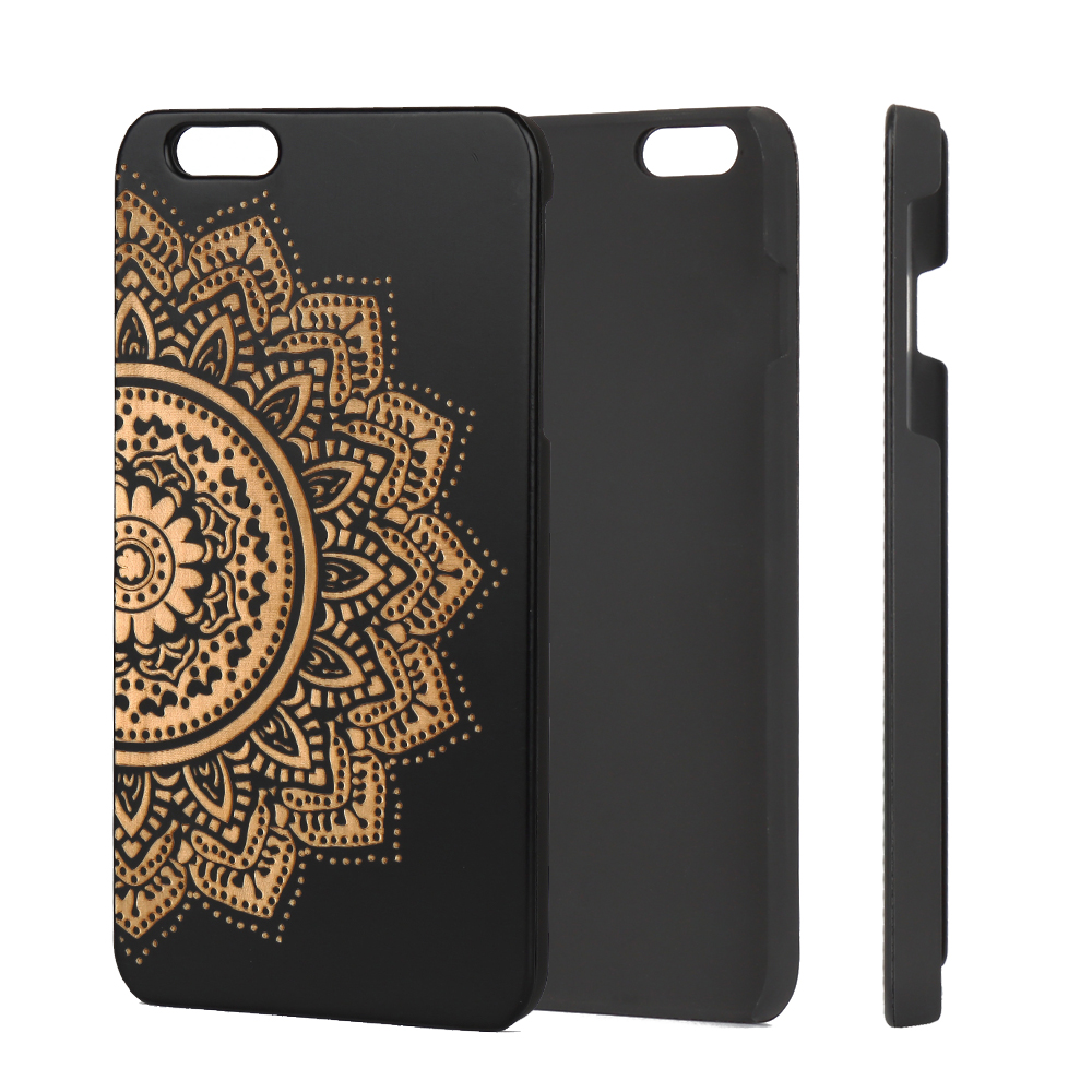 2018 Trendy Products Real Wood Phone Case Engraved  Wood Design for iPhone 7