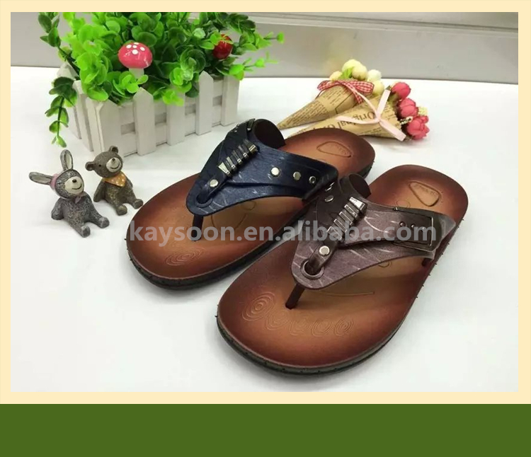 2017 new style comfortable male pvc slipper sole design