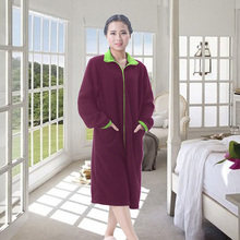 Adult sleepwear fancy polyester fleece personalized bathrobes for women