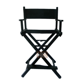Lightweight Black aluminum custom makeup chair, salon makeup chair, professional design for the cosmetic or hairdressing salon