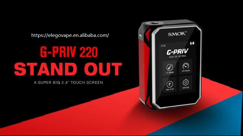 "Smok G-Priv 220 Stand Out with Super Big 2.4"" Touch Screen, Amazing Smok touch screen Box Mod gpriv or g priv"