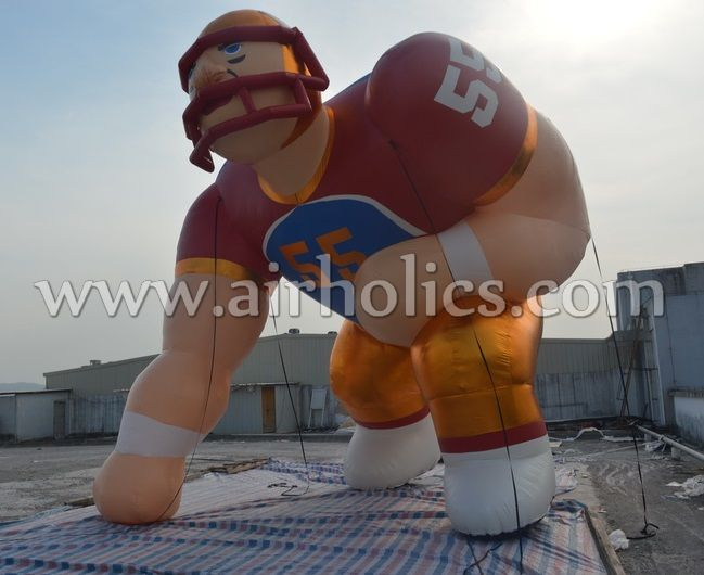 inflatable sports player football player baseball player inflatable model for advertising H3174