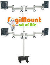 TKLA-6034 Desk Clamp Mount - Space Extender 4 LCD Monitor Flexible Arm
