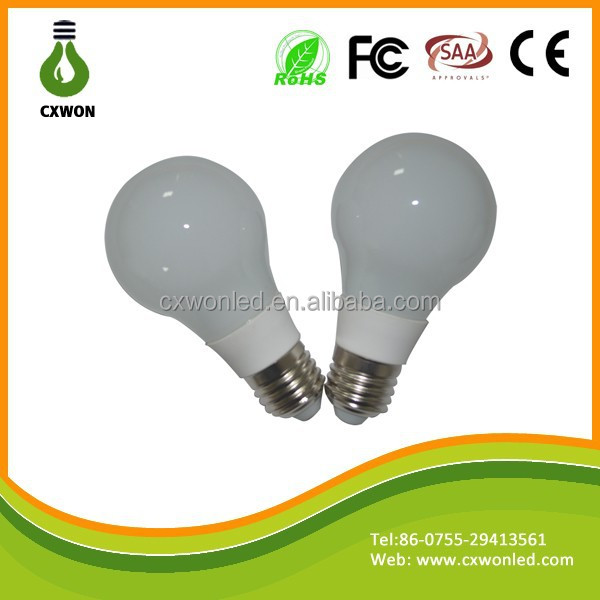 Hot new products 7W 9W 12W E27 B22 A60 mogul base 2000k-6500k led bulb e27 led bulb