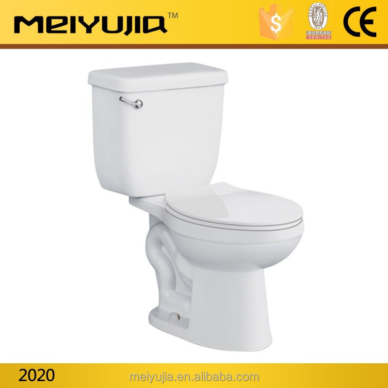2020C Chaozhou Sanitary ware Export ceramic p trap washdown 2 pc toilet