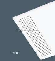 12 x 12 mm acoustical gypsum ceiling tiles
