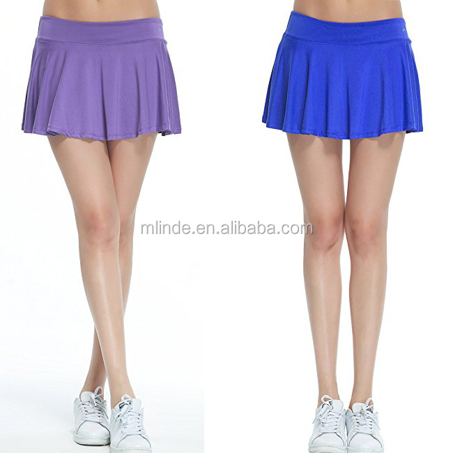 Womens Clothes Dress Wholesale Gym Athletic Stretchy Skorts Ladies Tennise Baseball Sports Skirt With Underwear Covered