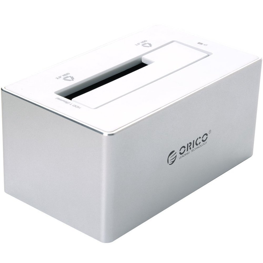 ORICO 6818US3 Aluminum USB 3.0 to 2.5 3.5 inch SATA Hard Drive SSD HDD Docking Station Silver