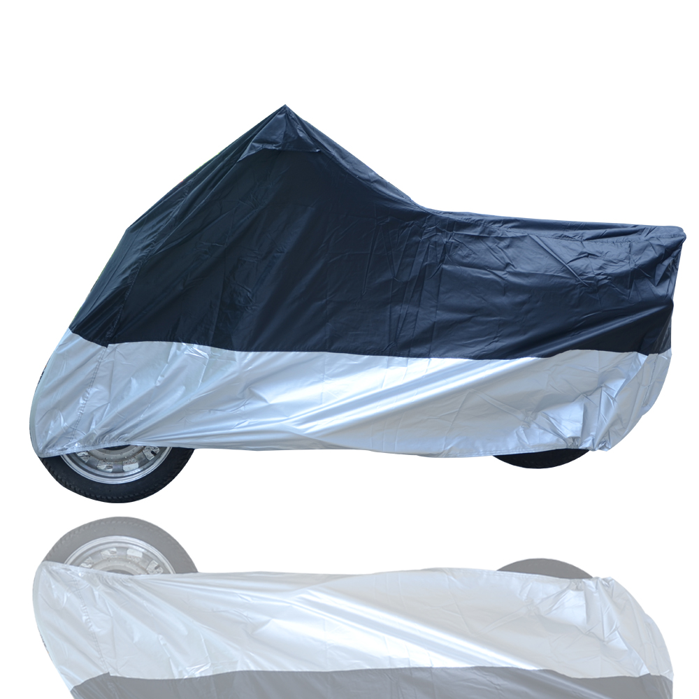 XXXL // 265 x 105 x 125CM NO Torn Oxford 210D Motorcycle Cover//Motorbike Covers Waterproof Heavy Duty for Outside Storage Motorcycle Accessories Rain Cover Shed Shelter with Lock-holes Storage Bag