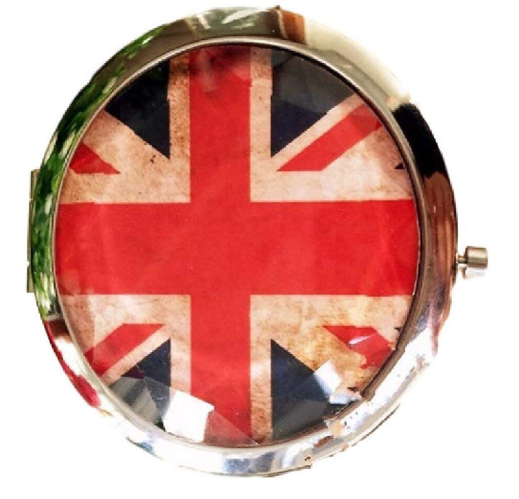 Japan Health and Beauty - (H. Kee HS) HKH Petit stylish hand mirror antique flag compact mirror retro rock chic mirror United Kingdom round *AF27*