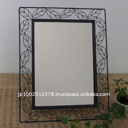 Decorado con marco de hierro espejo de pie espejos for Marcos decorados para espejos