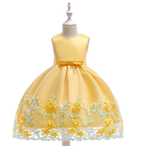 Latest Girls Ball Gown Designs Kids Garment Baby European Style Birthday Party Dress