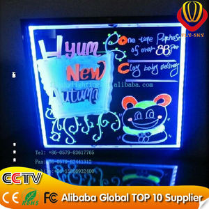 hot new products for 2016 led writing board pen flashing led writing board for promotion wholesale