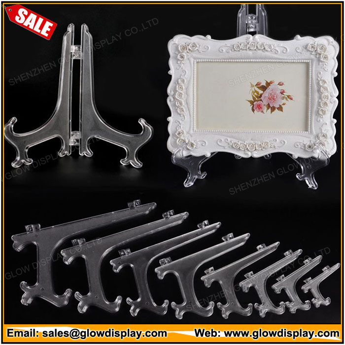 "3""5""7""9""Clear Display Easel Stand Bowl Pedestal Plate Stand"