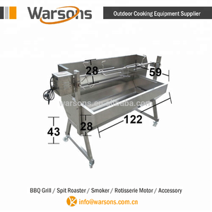 1200mm Stainless Steel Charcoal BBQ Grill Spartan pig Spit Roaster