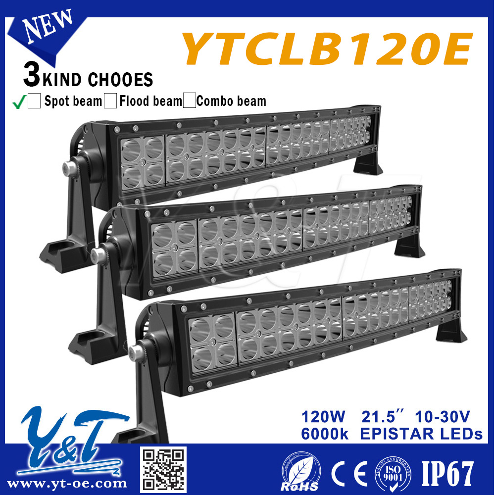 "Great brightness 20"" Led Light Bar Curvedcurved,4x4 led offroad light bar,20 inch 120w 4x4 Led Car Light for 4WD clubs"