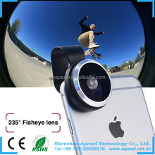 dropshipping manufacture of camera lens smartphone high quality 235 super fisheye lens