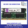 Import computer parts ETT chips from Taiwan laptop 1gb ddr memory