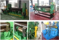 W11 3 roller hydraulic steel plate rolling machine hydraulic upper roller universal bending machine