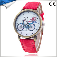 Hot Vintage Jeans Strap Watch for Women Leather Bike Fashion Casual Ladies Wrist Watch Men Relogio Feminino MW-24