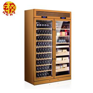 Stainless steel cooler stand up trunk wine cabinet