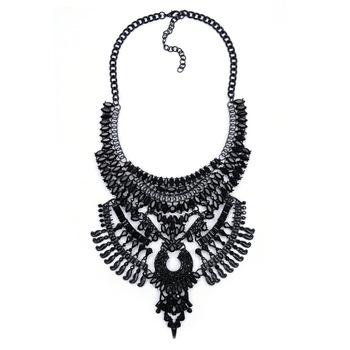 0d89577c7b57 2016 nueva moda Popular mujeres Vintage Collar negro Collar traje de  atmósfera de Metal collares para