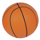Eco-friendly [ Ball ] Basketball Stress Ball 6.3cm PU Foam Soft Mini Basketball Stress Ball Stress Reliever