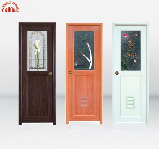 Good Price PVC Bathroom Glass Door Design
