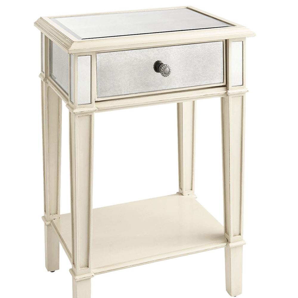 Professional Production Modern Mirrored Furniture Antique Mirrored Night Stand