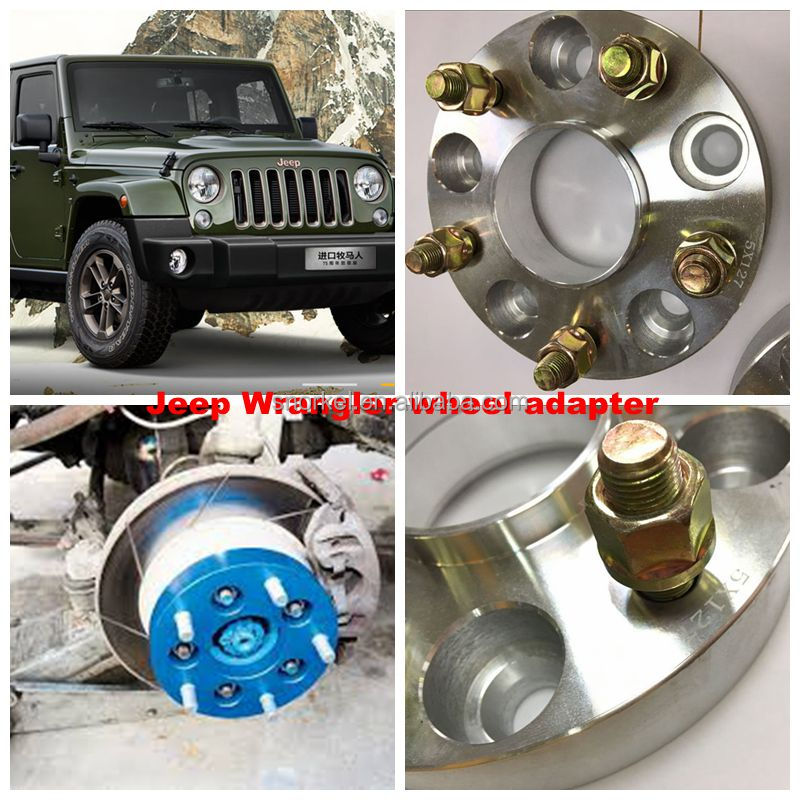 "5x127 aluminum wheel adapter for Jeep wrangler 5 stud 5"" wheel hub centric spacer 35mm"