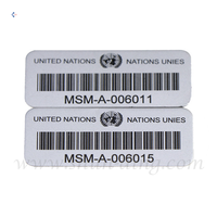 Waterproof Self-adhesive Custom Metal QR Code Label Printing Asset Tag