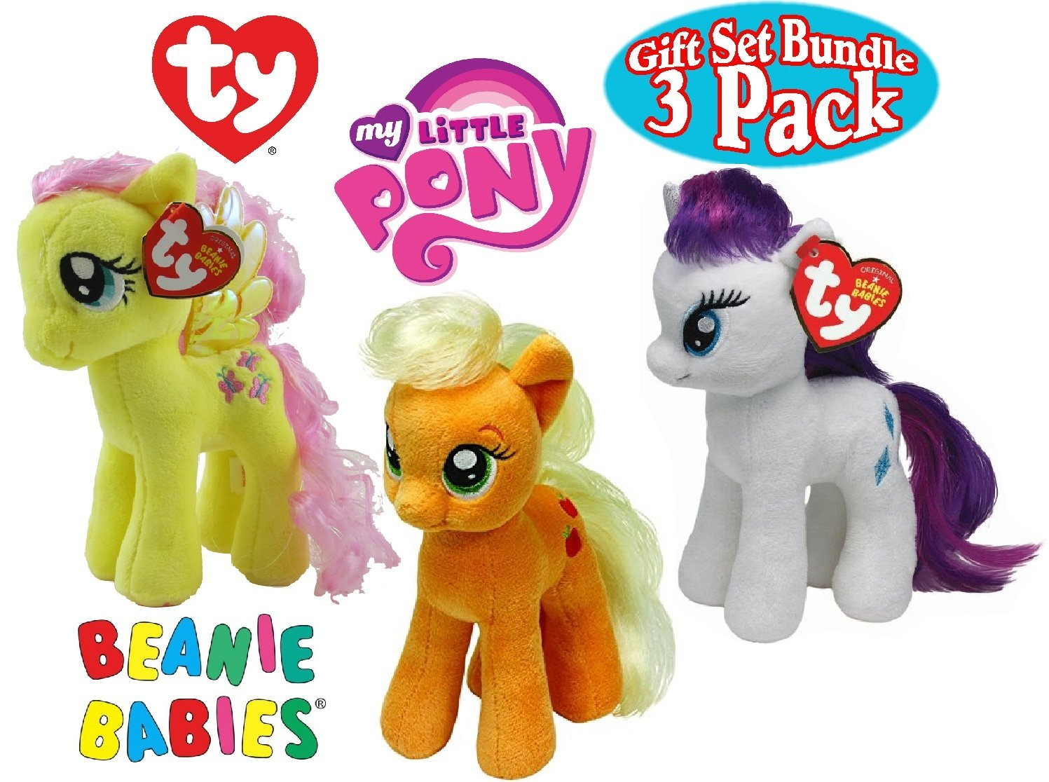 Buy Set of 3 Ty My Little Pony Beanie Babies in Cheap Price on ... 3653a89d76db