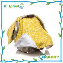 Customized pattern stroller blanket baby car seat canopy