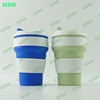 wholesale 2017 new design hot selling mug silicone grip travel cup collapsible coffee mugs